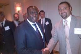 Senegalese President Mr Macky Sall and Mr Falconio