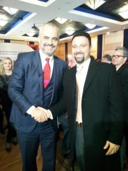 Primo Ministro albanese Edi Rama e Stefano Falconio